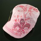 Pink Pink and More Pink Rhinestone Fleur de Lis Hat