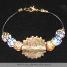 """8"""" Full Moon and Multi Flower Bracelet - Item #: KW-2N"""