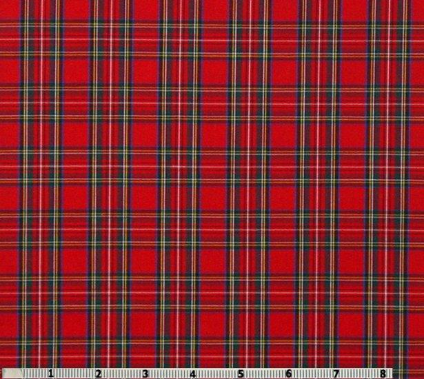Royal Stewart Tartan 65 Polyester 35 Cotton Shirting