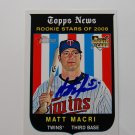 2008 Topps Heritage High Series Matt Macri