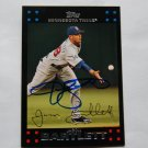 2007 Topps Series 2 Red Back Jason Bartlett Autograph