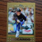 2007 Topps Update Gold Jeremy Accardo Autograph