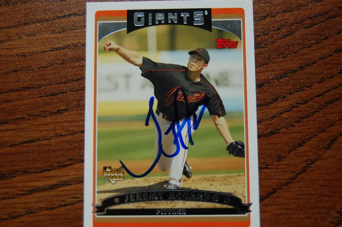 2006 Topps Series 2 Jeremy Accardo Autograph