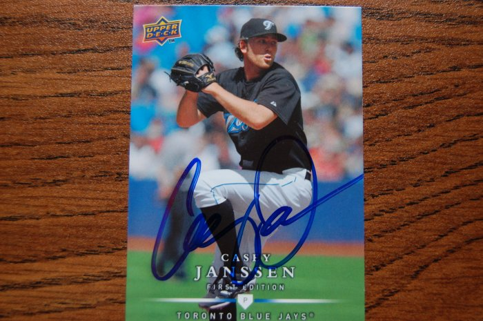 2008 Upper Deck First Edition Casey Janssen Autograph