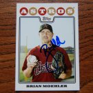 2008 Topps Update Brian Moehler Autograph