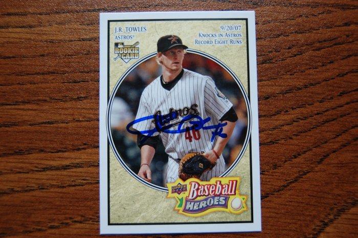 2008 Upper Deck Baseball Heroes J.R. Towles Autograph