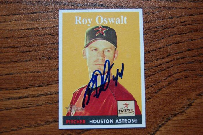 2006 Topps Heritage Roy Oswalt Autograph