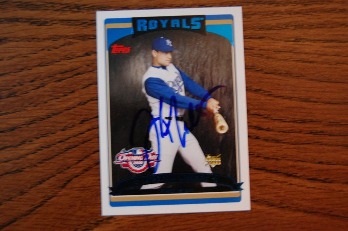 2006 Topps Opening Day Justin Huber Autograph