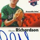 2008 Tristar Projections Dustin Richardson Autograph