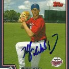 2004 Topps Traded Kyle Waldrop Autograph