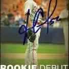 2006 Topps Update Rookie Debut Fabio Castro Autograph