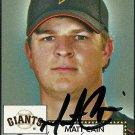 2006 Topps '52 Matt Cain Autograph