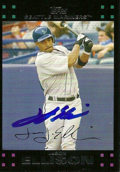2007 Topps Update Red Back Jason Ellison Autograph