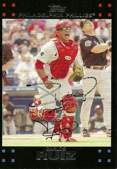 2007 Topps Update Carlos Ruiz Autograph