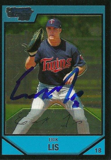 2007 Bowman Chrome Erik Lis Autograph