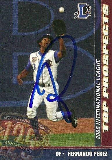 2008 Choice International League Top Prospects Fernando Perez Autograph