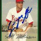 2006 Bowman Draft Scott Mathieson Autograph