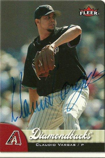 2007 Fleer Claudio Vargas Autograph