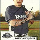 2007 Topps '52 Drew Anderson Autograph