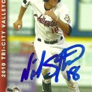 2010 Multi Ad Sports Valley Cats Nick Stanley Autograph