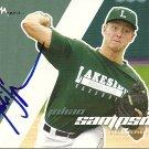 2008 Just Autographs Julian Sampson Autograph