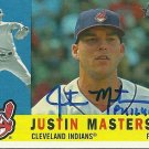 2009 Topps Heritage Justin Masterson Autograph