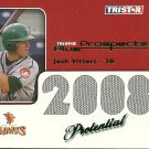 2008 Tristar Prospects Plus Green Border Potential Josh Vitters Game-Used Jersey Card