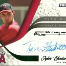 2008 Tristar Prospects Plus Farm Hands Green Border Tyler Chatwood Certified Autograph