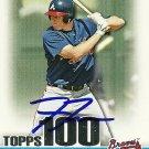 2010 Bowman Tpps 100 Prospects Freddie Freeman Autograph