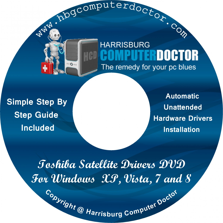 Toshiba Satellite 1905-S303 Drivers DVD For Windows, XP, Vista, 7 & 8