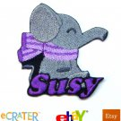 Custom Personalized Iron-on Patch - Elephant