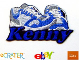 Custom Personalized Iron-on Patch - Running Shoes