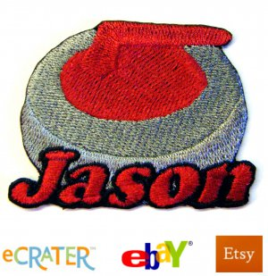 Custom Personalized Iron-on Patch -Curling Stone