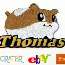 Custom Personalized Iron-on Patch - Hamster