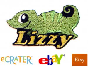 Custom Personalized Iron-on Patch - Lizard