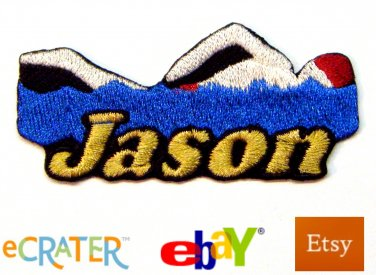 Custom Personalized Iron-on Patch - Male Swimming