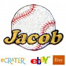 Custom Personalized Iron-on Patch - Baseball