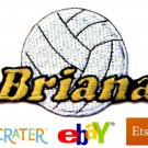 Custom Personalized Iron-on Patch - Volleyball