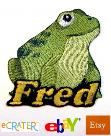 Custom Personalized Iron-on Patch - Frog / Toad