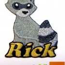 Custom Personalized Iron-on Patch - Raccoon