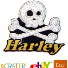Custom Personalized Iron-on Patch - Skull and Cross Bones