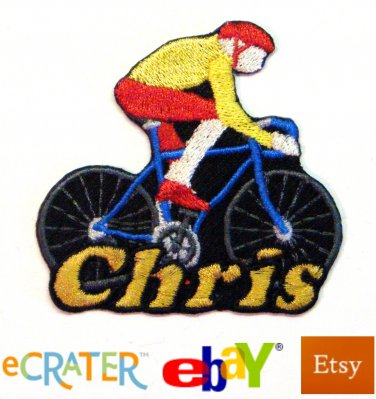 Custom Personalized Iron-on Patch - Bicycling