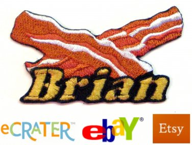 Custom Personalized Iron-on Patch - Bacon