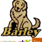 Custom Personalized Iron-on Patch - Golden Retriever
