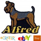 Custom Personalized Iron-on Patch - Airedale