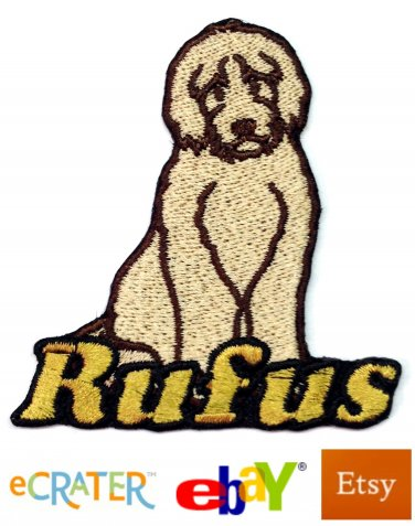 Custom Personalized Iron-on Patch - Labradoodle