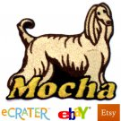 Custom Personalized Iron-on Patch - Afghan Hound