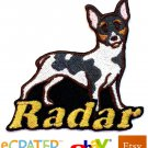 Custom Personalized Iron-on Patch - Rat Terrier
