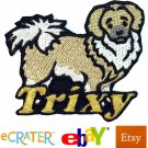 Custom Personalized Iron-on Patch - Tibetan Spaniel