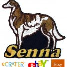 Custom Personalized Iron-on Patch - Borzoi